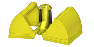 EXSTEL Light Material Clamshell Type EXB-SCG