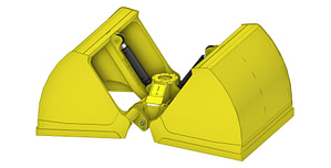 EXSTEL Light Material Clamshell Type EXB-SCGL