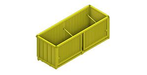 EXSTEL Hydraulic Container Type EXB-CC