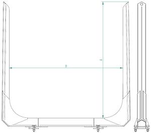 EXSTEL Log Pillars Type EXB-LP